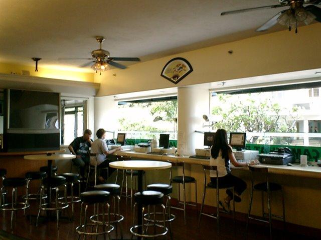 インターネットカフェあり