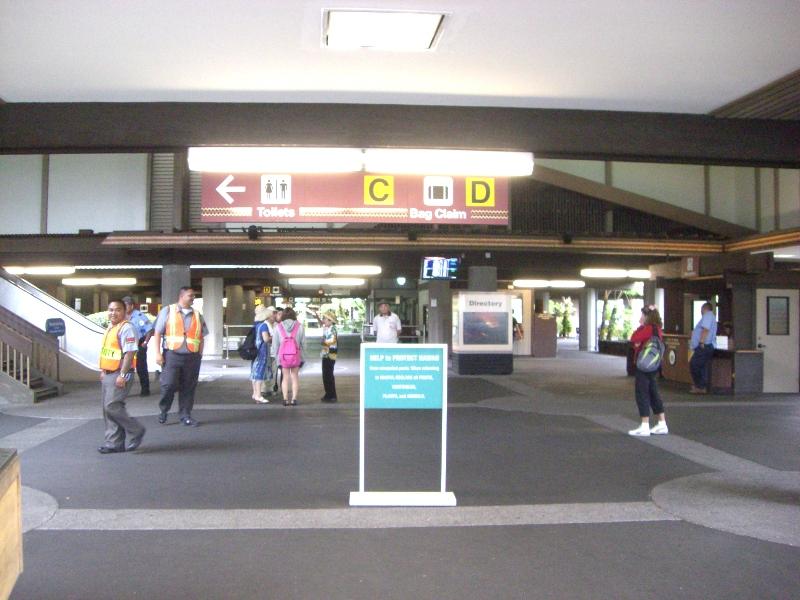 空港1階、ガイドなどと落ち合うのはここになります