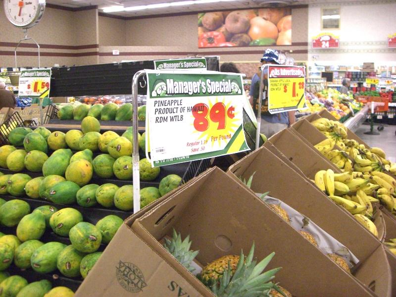 野菜、フルーツ類売り場も充実