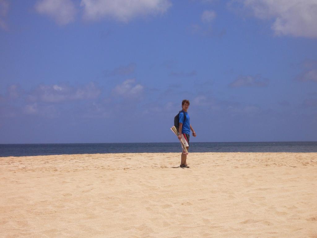 砂浜にひとりぼっち!
