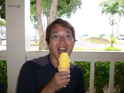 Pineapple Soft ice cream