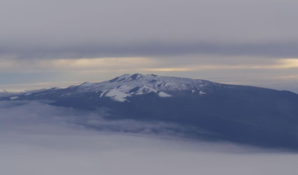 Mauna Kea capped with snow