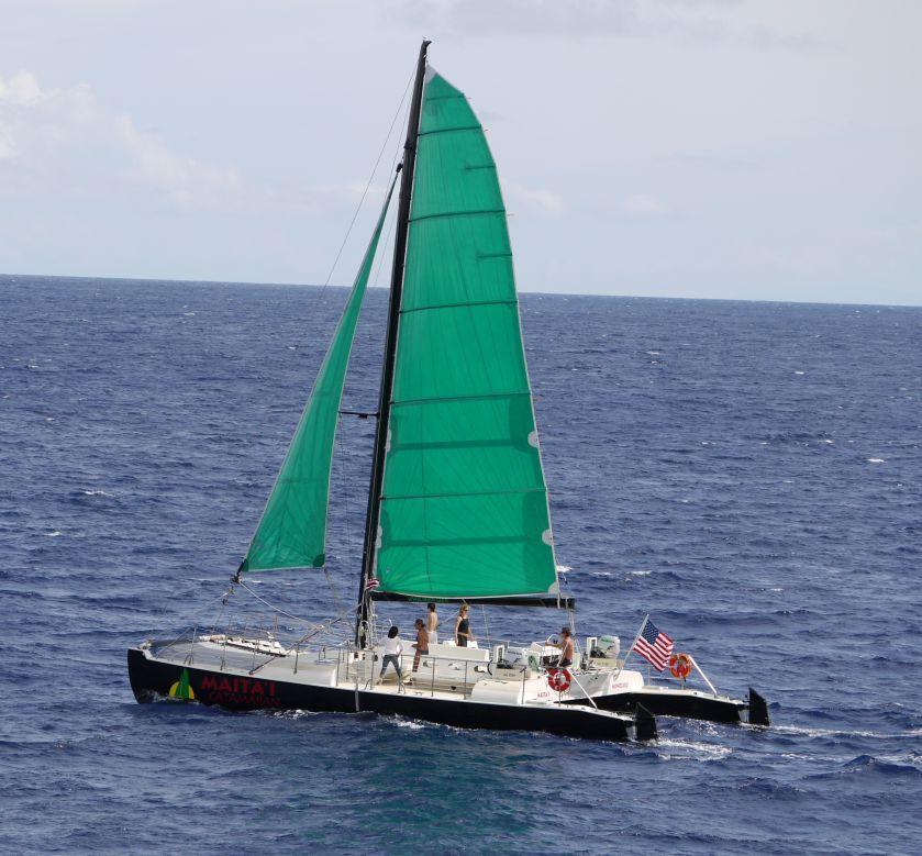 Sail boat at Waikiki