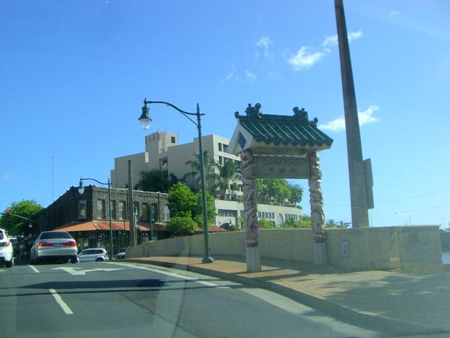 中国城と書かれた門